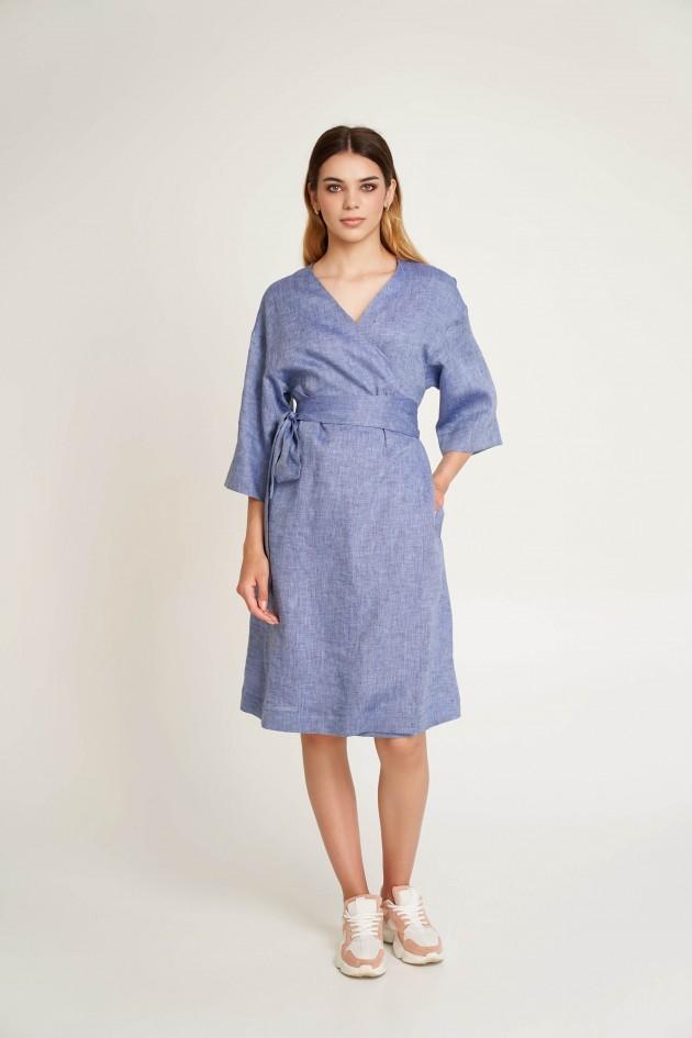 Жіноча сукня на запах без вишивки Джинс